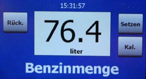 Der Lader das Gas das Benzin 3 Tonnen